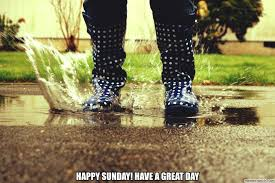 Remember to dress for the slushy spring weather!