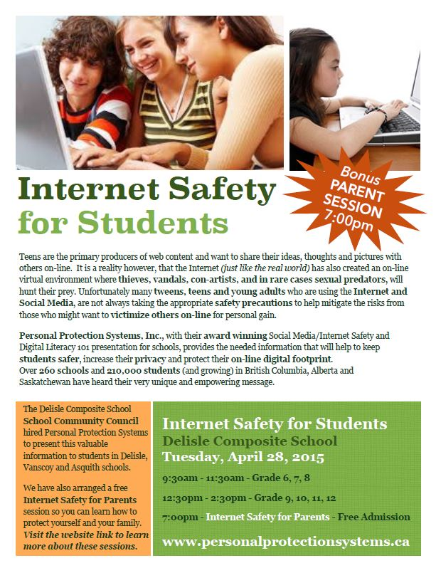internet safety presentation poster