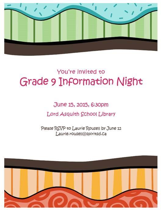 grade 9 information night