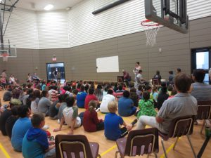 opening in mini gym on Aboriginal Day
